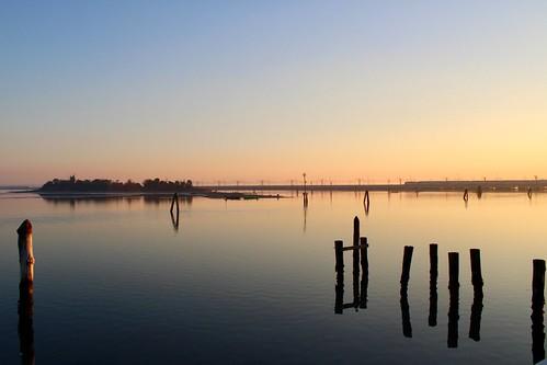 Sunset near Venice (Italy)