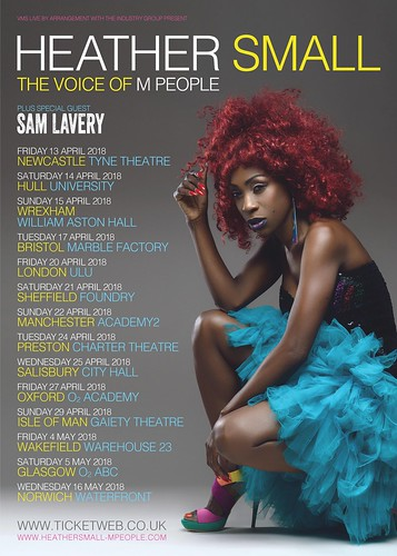 Heather Small 2018 Tour | Sam Lavery Support Act | Flyer