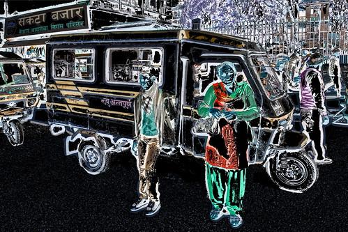 Nepal - Kathmandu - Streetlife With Auto Rickshaw - 102dd