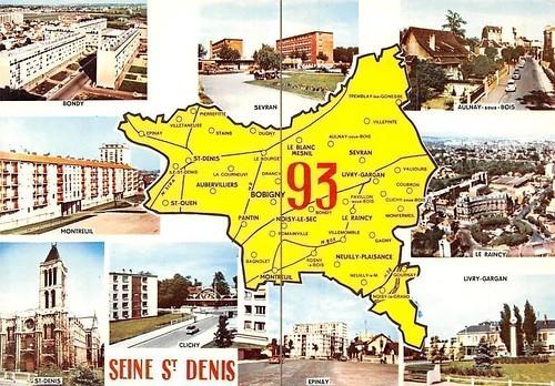 le 93 Seine-Saint-Denis Map Multiviews, Bondy, Sevran, Epinay, Livry-Gargan