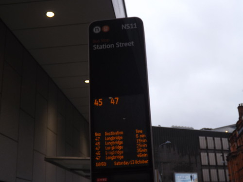 birmingham city centre NS coded bus stop NS11 station street