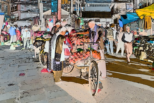 Nepal - Kathmandu - Streetlife - Market - 101g