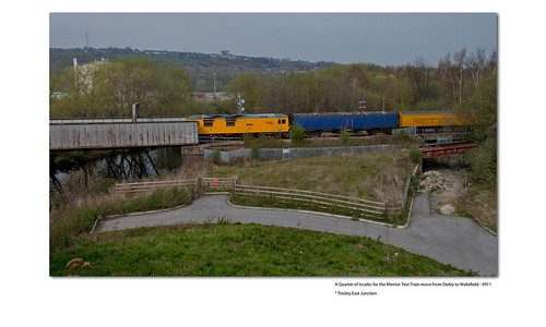 A Quartet of locales for the Mentor Test Train move from Derby to Wakefield - 0911 * Tinsley East Junction