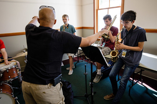 Marcus Baylor workshop combo at 2018 Jazz Port Townsend