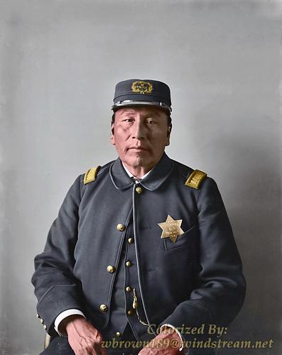 Photo taken in 1896: Mato-Wakinyan Captain of U.S. Native Police.