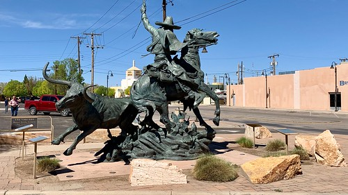"""""""The  Vaquero"""" by Michael Hamby at the corner of Main & N 2nd Streets in Artesia, New Mexico."""