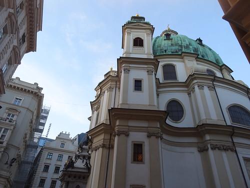 Wien, 1. Bezirk (the art of Baroque churches of Vienna), Peterskirche, la chiesa di San Pietro, la iglesia de San Pedro, l'église du Saint-Pierre, the church of Saint Peter (Petersplatz/Jungferngasse)