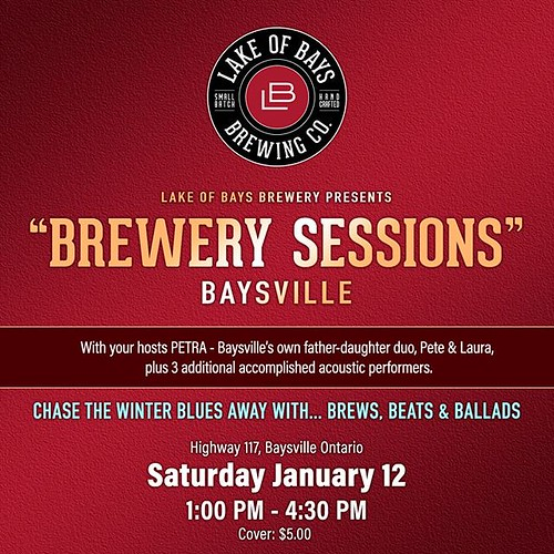 Brewery Sessions is back! Join us this Saturday to enjoy the musical stylings of 4 amazing performers: Pete & Laura Harbocian, Jakob Pearce, Gina Horswood and Nonie Thompson. 1 PM-4:30 PM at the brewery, $5 cover charge. 🍺🎵