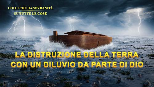 La distruzione della terra con un diluvio da parte di Dio