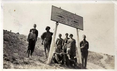 Monarch Pass, Colorado, Vintage Sign, 1920s