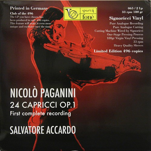 Paganini - 24 Capricci Op.1 - Salvatore Accardo - Fone Club of 496 ( Set 2 of 2 )