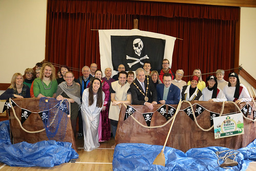 Lord Mayor of Lisburn and Castlereagh, Councillor Uel Mackin, jumped aboard with the team of Patrick's Mysterious Adventure on opening day at Christ Church, Lisburn.