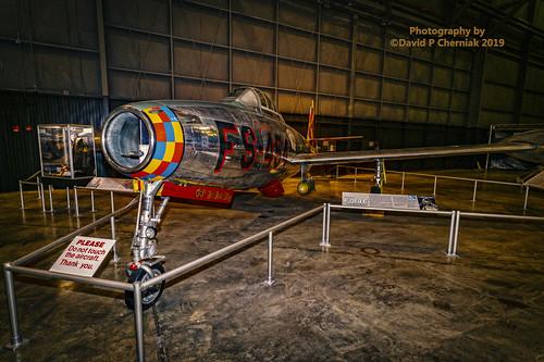 Republic F-84E Thunderjet LF 3-4 Korean War Gallery USAF Museum (9160) Wright-Patterson AFB, OH 3-10-2019.