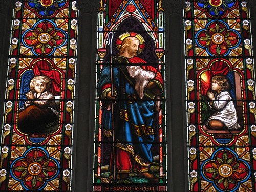 Detail of the Three Chancel Lancet Windows by Ferguson and Urie; the Former Saint George's Presbyterian Church - Chapel Street, St Kilda East