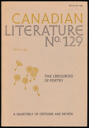 CANADIAN LITERATURE 129