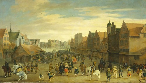 The Disbanding of the 'Waardgelders' (Mercenaries in the Pay of the Town Government) by Prince Maurits on the Neude, Utrecht, 31 July 1618, Pauwels van Hillegaert, 1627