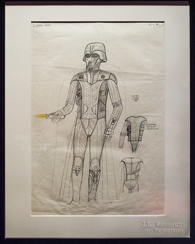 Star Wars & the Power of Costume - Darth Vader Concept Art by John Mollo