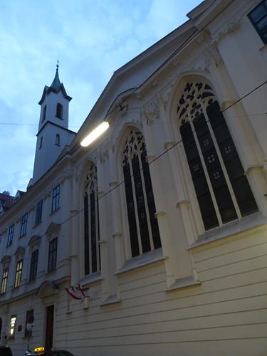 Wien, 1. Bezirk (historic church buildings at the old center of Vienna), Deutschordenskirche, church of the Teutonic Order, la chiesa dell'Ordine Teutonico, la iglesia de la Orden Teutónica, l'église de l'Ordre Teutonique, Zakon krzyżacki; Singerstraße