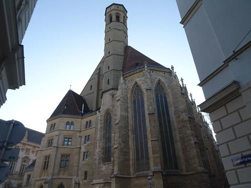 Wien, 1. Bezirk, la chiesa dei Frati Minori Conventuali, la iglesia de los Franciscanos conventuales, l'église des frères mineurs conventuels, church of Friars Minor Conventual (Minoritenkirche), Minoritenplatz