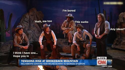 TENSIONS AT BROKEBACK MOUNTAIN  v2 - ft. Jim Parsons Kyle Mooney Kenan Thompson Brooks Wheelan and Beck Bennett