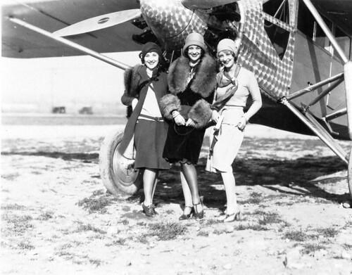 Ryan Brougham B-1 Ann Christy, Sally Eilers, Flora Bramley, WAMPAS Baby Stars, Rogers Field Los Angeles