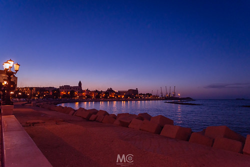 Promenade blue hour at Bari