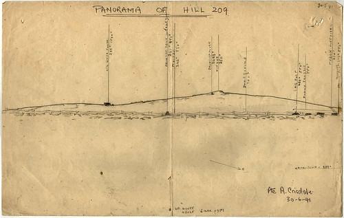 30 June 1941 - Panorama of Hill 209 (aka
