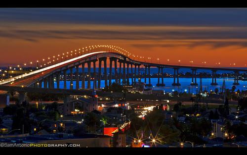 Coronado Bay Bridge shines brightly as an iconic San Diego Landmark