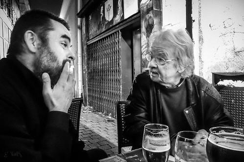 Rencontre entre Georges Courtois et Sylvain Borsatti en bordure de la Perle à Nantes, le 23 décembre 2015.