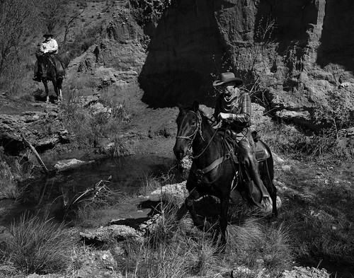 02469376422340-111-19-04-A Cowboy and His Horse-14-Black and White
