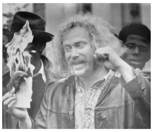 Albert burns his subpoena in bombing case: 1971
