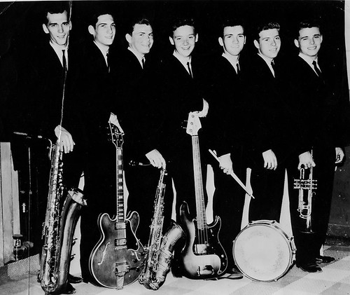 Mar-Keys l-r Don Nix, Cropper, Packy Axton, Duck Dunn, Terry Johnson, Smoochie Smith, Wayne Jackson, Memphis TN - Circa 1962