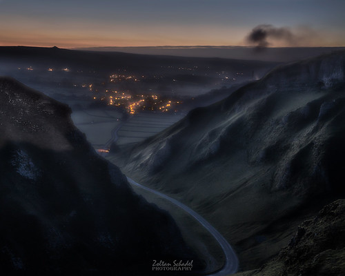 Winnats Pass before sunrise