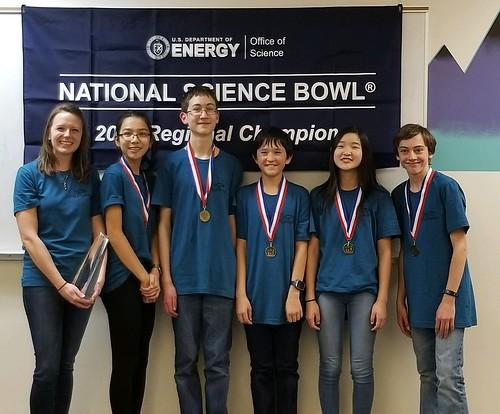 2019 Colorado Middle School Science Bowl winners