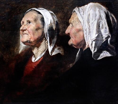 IMG_4203I Jacob Jordaens. 1593-1678. Anvers.   Tête de vieille femme.   Old woman's head. 1620.    Nancy. Musée des Beaux Arts