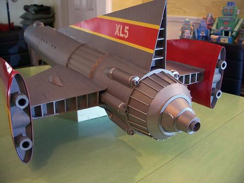 48 inch model of Fireball XL5