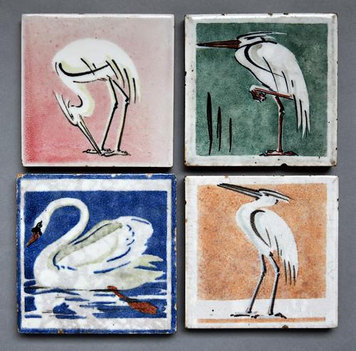 Swan and herons, Dunsmore tiles