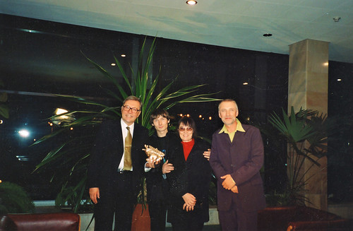 Krzysztof Zanussi, Bohdan Rodyuk Chekan, Olena Chekan, Anatoliy Yerema The 35th Kyiv International Film Festival «Molodist» Cinema House (Kyiv, Ukraine) 30.10.2005 20:45