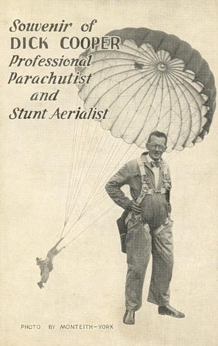 Dick Cooper, Professional Parachutist and Stunt Aerialist, Harrisburg, Pa.