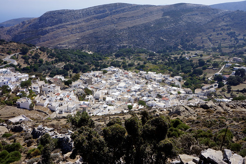 Landscape, view of Apeiranthos village