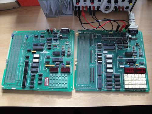 URDA and Intel SDK-86 boards side by side