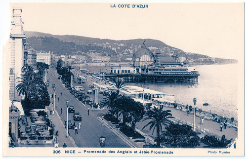 Nice - Promenade des Anglais in a More Innocent Age