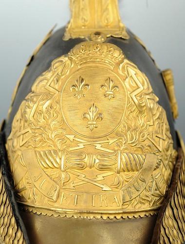 CASQUE D'OFFICIER SUPÉRIEUR DES GENDARMES DE LA MAISON DU ROI 1814 ayant appartenu au COMTE DURFORT