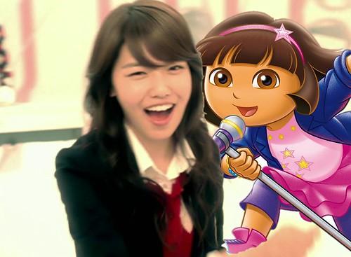 Dora singing with Girls' Generation [So Nyuh Shi Dae] 004