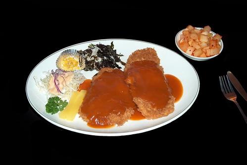 South Korea - Restaurant - Dinner - 3d