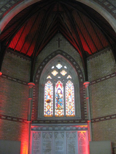 The Three Chancel Lancet Windows by Ferguson and Urie and the Keene's Cement Reredos; the Former Saint George's Presbyterian Church - Chapel Street, St Kilda East