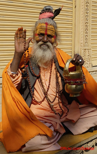 Sadhu, Jaisalmer, Salim Singh Haveli, Rajasthan