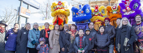 Chinese New Year 2019 celebrations on Victoria Drive, Vancouver, Canada.