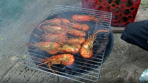 Indonesia - Bali - Padangbai - King Prawn Barbecue - 1