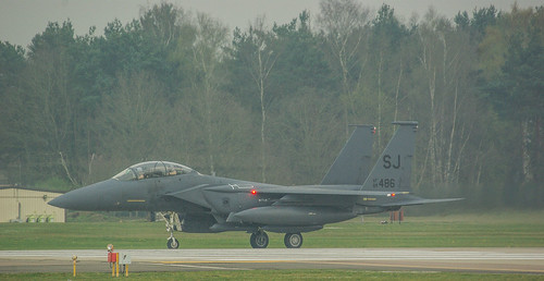 Saymore Johnson F15's arriving at Lakenheath 08/04/2019.